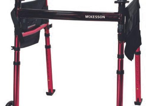 Travel Walker Adjustable Height McKesson Aluminum Frame 300 lbs. Weight Capacity