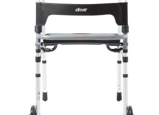 Dual Release Folding Walker Adjustable Height Clever-Lite LS Aluminum Frame 300