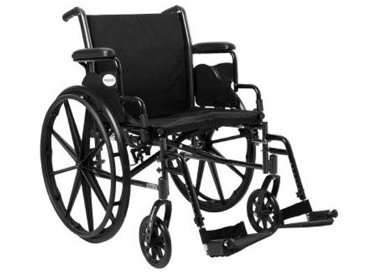 Lightweight Wheelchair McKesson Dual Axle Desk Length Arm Flip Back / Removable