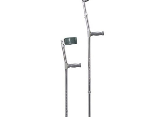Forearm Crutches Mckesson Adult Steel Frame 300 lbs. Weight Capacity