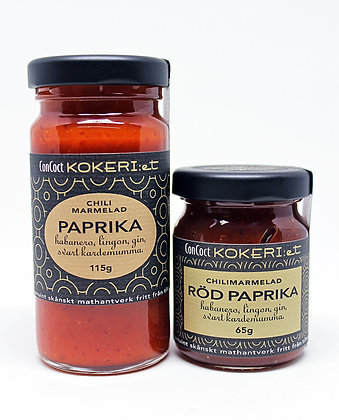 Chilimarmelad röd paprika/habanero/lingon