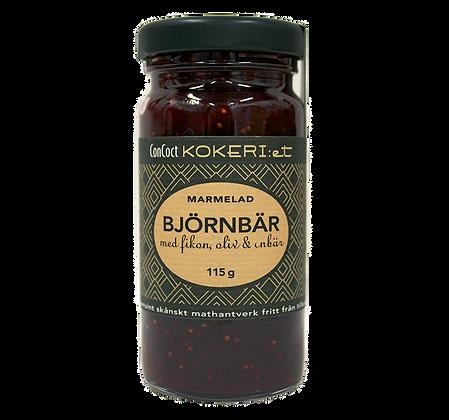 Marmelad björnbär/fikon/svart oliv