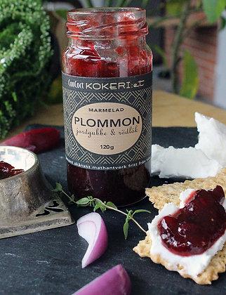 Marmelad plommon/jordgubbe/rödlök