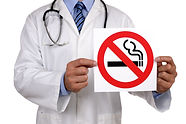 Doctor advice holding a no smoking sign.jpg
