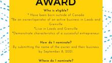 Immigrant Entrepreneur Award Nominations!