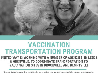 Vaccination Transportation Program  Available