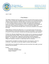 Press Release re:  Bedford Street Reconstruction