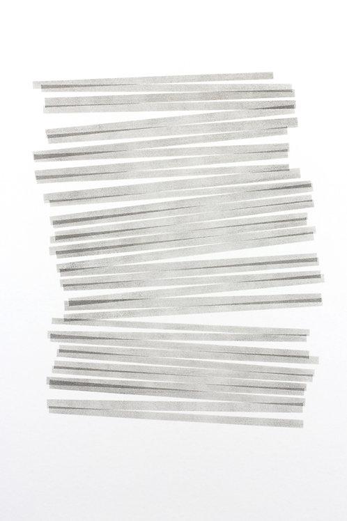 026. Sans titre 42, 2017, acrylique sur papier, 100 x 70 cm