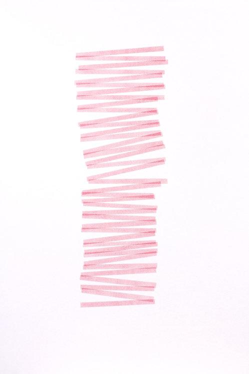023. Sans titre 44 bis, 2017, acrylique sur papier, 100 x 70 cm