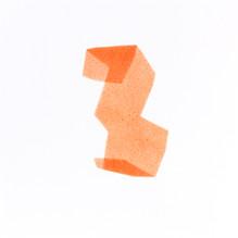 Izabela Kowalczyk, Sans titre 10, acrylique sur papier, 2020, 25 x 25 cm
