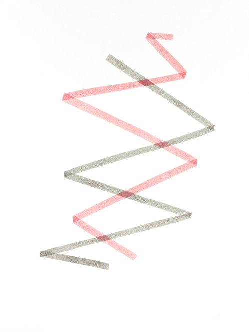 006. Sans titre 60, 2018, acrylique sur papier, 70 x 50 cm