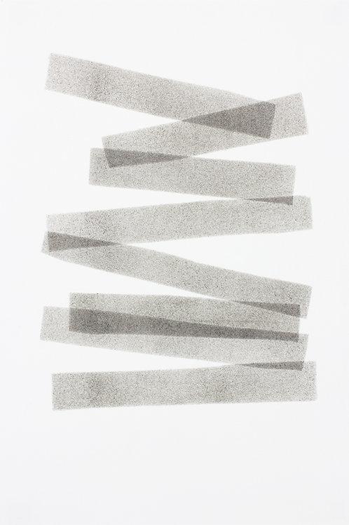 034. Sans titre 37 bis, 2017, acrylique sur papier, 30 x 20 cm