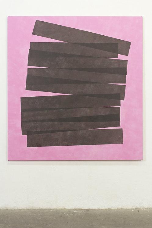 063. Sans titre 86, 2017, acrylique sur toile, 140 x 130 cm
