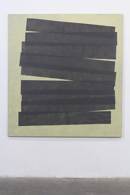 066. Sans titre 83, 2017, acrylique sur toile, 140 x 130 cm
