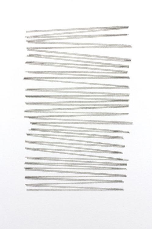 024. Sans titre 43, 2017, acrylique sur papier, 100 x 70 cm