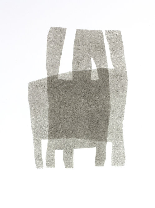 050. Sans titre 22, 2016, acrylique sur papier, 40 x 30 cm