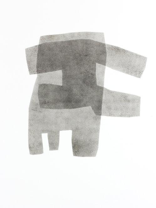 058. Sans titre 11, 2015, acrylique sur papier, 65 x 50 cm