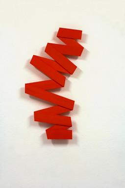 Izabela Kowalczyk, Relief 25, 2019, balsa, peinture acrylique, 99 x 44,5 x 2 cm