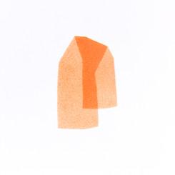 Izabela Kowalczyk, Sans titre 11, acrylique sur papier, 2020, 25 x 25 cm
