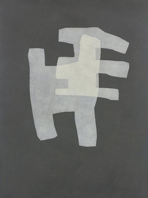 075. Sans titre 71, 2015, acrylique sur toile, 65 x 50 cm