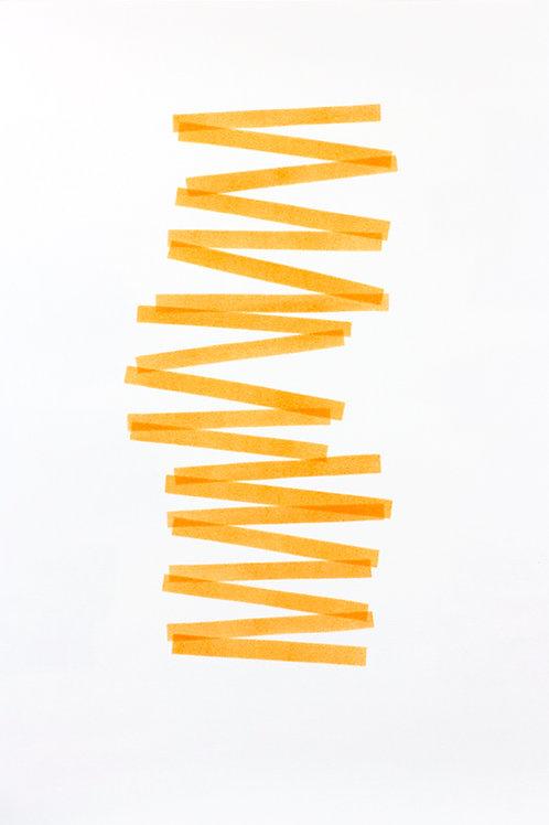 017. Sans titre 49 bis, 2018, acrylique sur papier, 70 x 50 cm