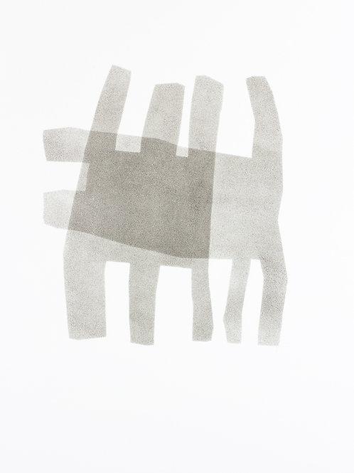 055. Sans titre 17, 2015, acrylique sur papier, 65 x 50 cm