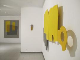 Izabela Kowalczyk, Relief 5, 2012, bois, charnières, peinture acrylique, 142 x 198 x 3 cm, vue d'exposition, ©photo E. Germain