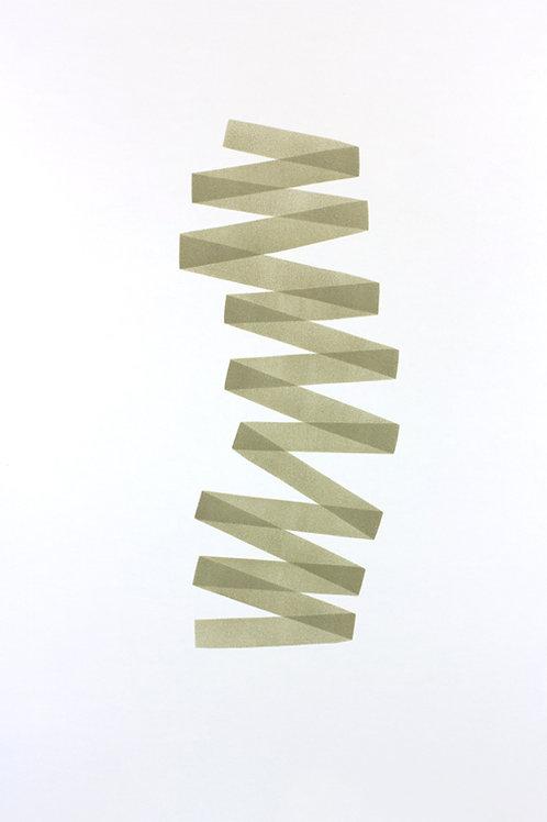 020. Sans titre 45, 2017, acrylique sur papier, 100 x 70 cm