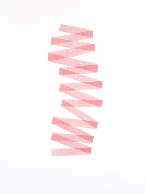 021. Sans titre 45 bis, 2017, acrylique sur papier, 100 x 70 cm