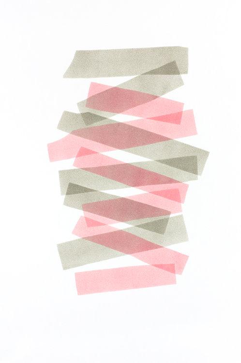 012. Sans titre 53, 2018, acrylique sur papier, 70 x 50 cm