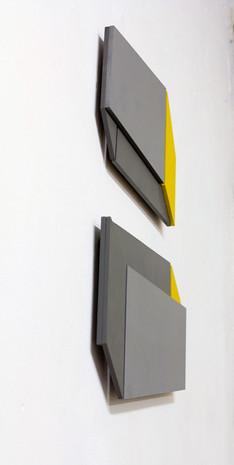 Relief 22, 2019, bois, peinture acrylique, 51 x 40 x 1,5 cm