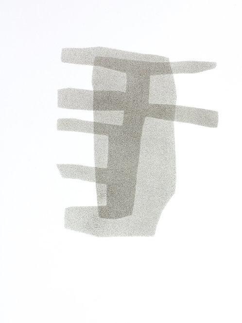 052. Sans titre 20, 2016, acrylique sur papier, 40 x 30 cm