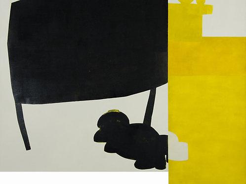 094. Sans titre 17, 2009, acrylique sur toile, 132 x 162 cm