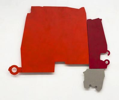 Izabela Kowalczyk, Relief 6, 2013, bois, charnières, peinture acrylique, 142 x 198 x 3 cm, coll. particulière
