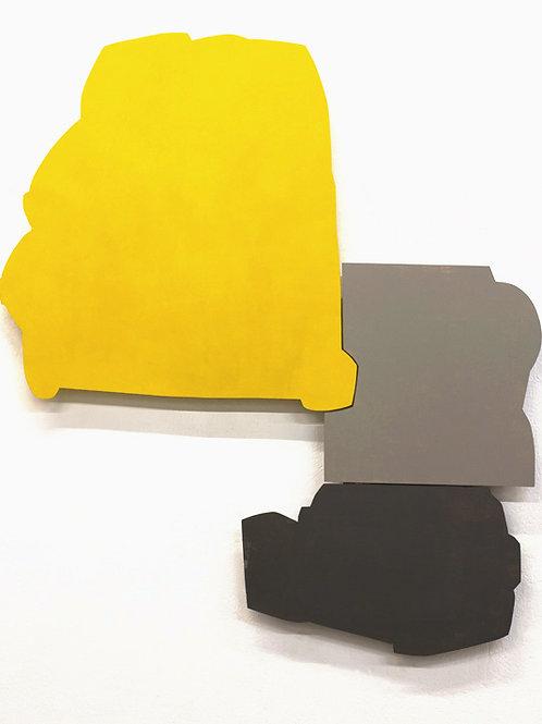 114. Relief 1, 2012, mdf, charnières, peinture acrylique, 150 x 140 x 7,5 cm