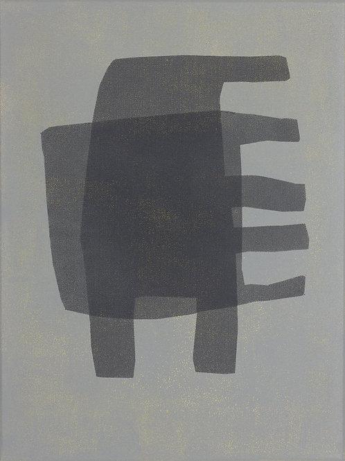071. Sans titre 76, 2016, acrylique sur toile, 40 x 30 cm