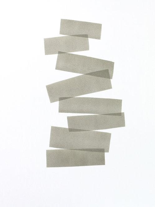 014. Sans titre 50, 2018, acrylique sur papier, 70 x 50 cm