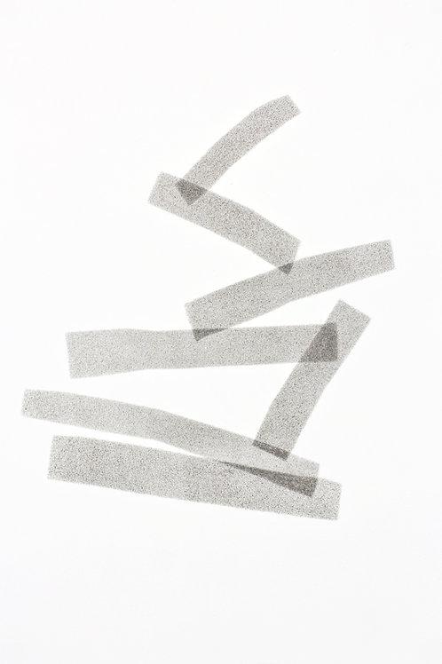 039. Sans titre 33 bis, 2017, acrylique sur papier, 30 x 20 cm