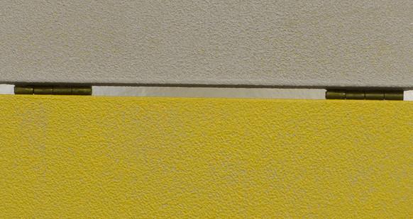 Izabela Kowalczyk, Relief 4, 2012, bois, charnières, peinture acrylique, détail