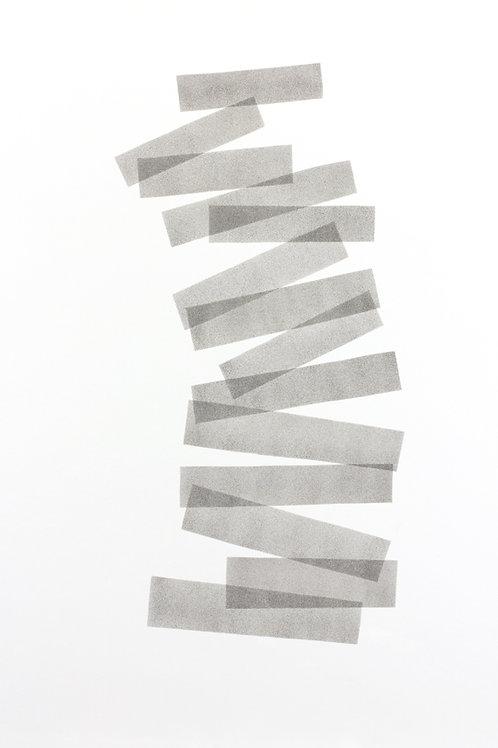 030. Sans titre 39, 2017, acrylique sur papier, 70 x 100 cm