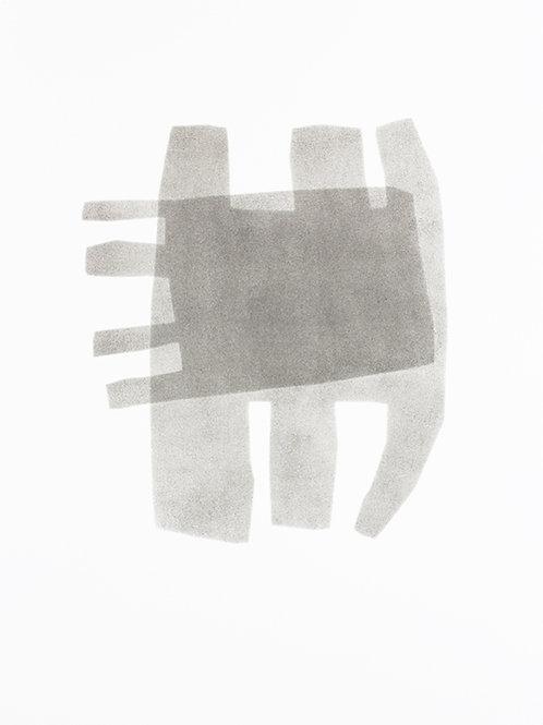054. Sans titre 18, 2015, acrylique sur papier, 65 x 50 cm