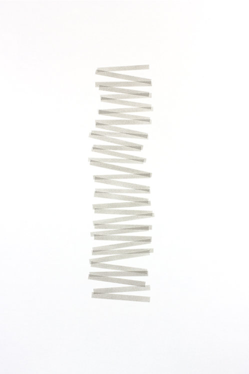018. Sans titre 47, 2017, acrylique sur papier, 100 x 70 cm