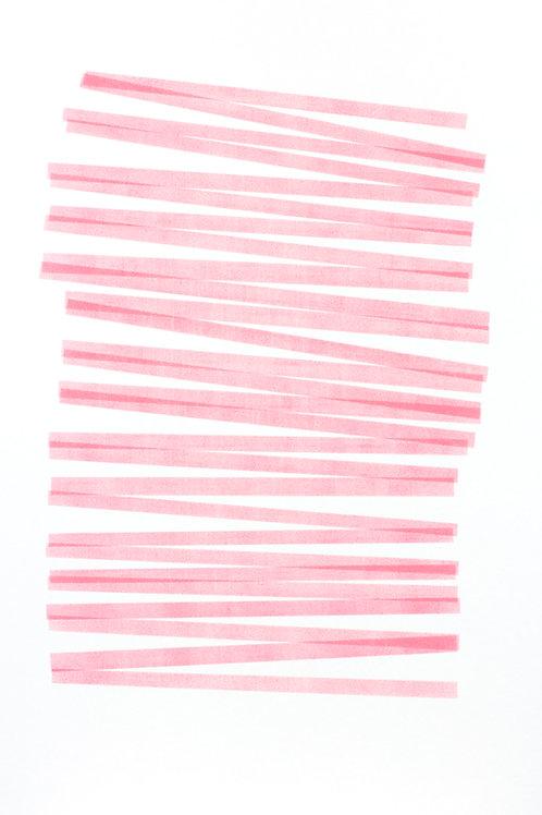029. Sans titre 41 bis, 2017, acrylique sur papier, 100 x 70 cm