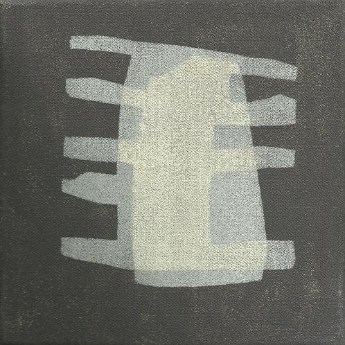 097. Sans titre 12, 2016, acrylique sur toile, 20 x 20 cm