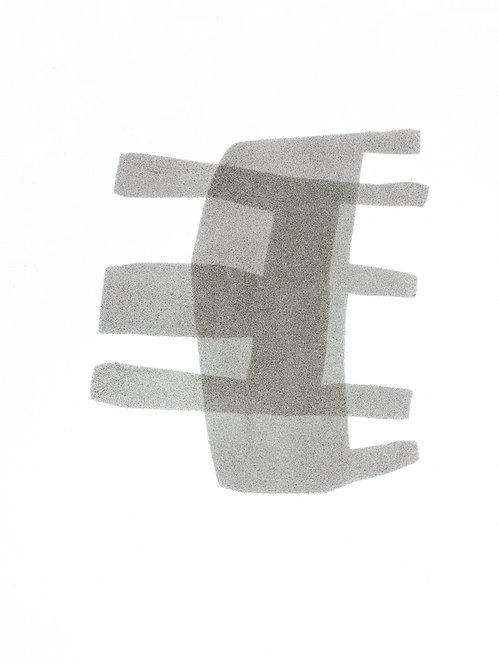 053. Sans titre 19, 2016, acrylique sur papier, 40 x 30 cm,