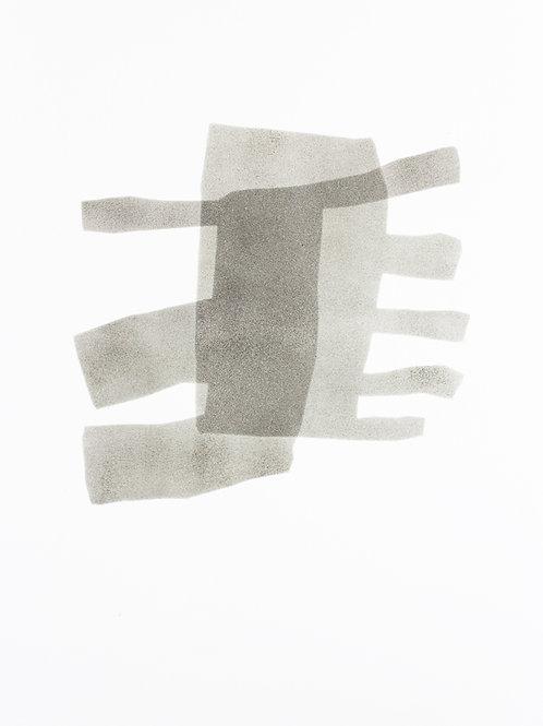 056. Sans titre 15, 2015, acrylique sur papier, 65 x 50 cm