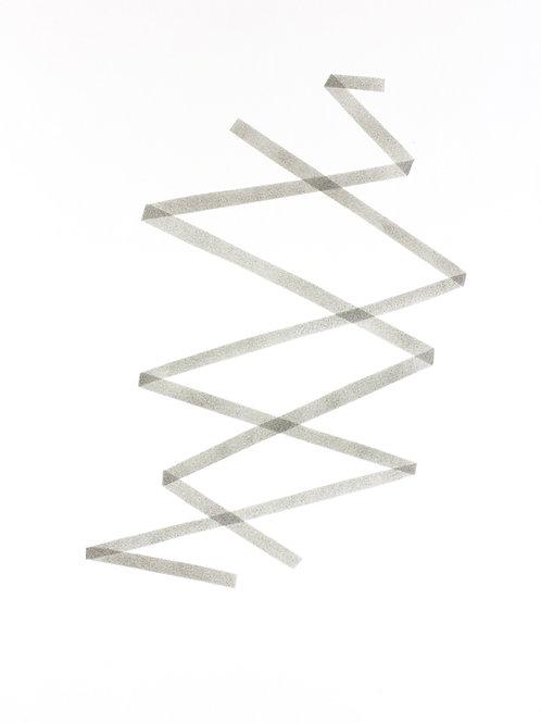007. Sans titre 60 bis, 2018, acrylique sur papier, 70 x 50 cm