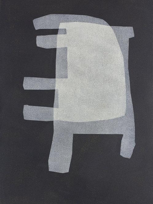 070. Sans titre 78, 2016, acrylique sur toile, 44 x 30 cm
