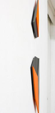 Izabela Kowalczyk, Relief 27, 2019, mdf, peinture acrylique, 92 x 27 x 1,5 cm