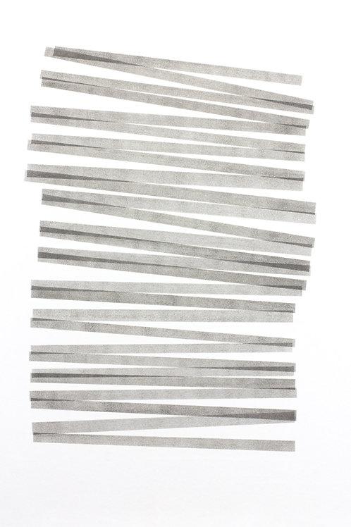 028. Sans titre 41, 2017, acrylique sur papier, 100 x 70 cm